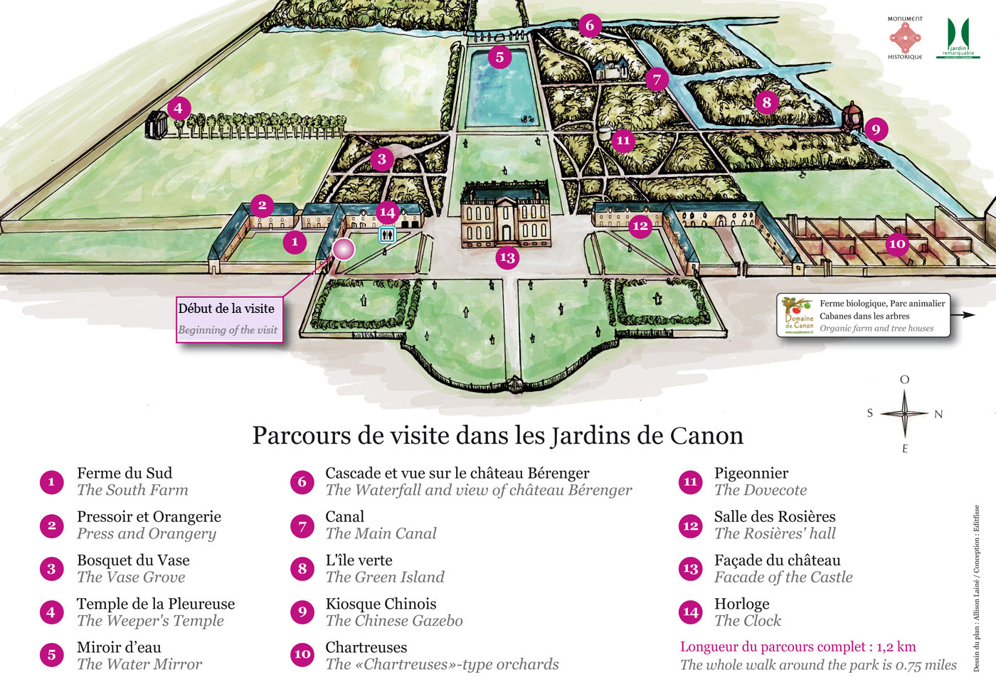 Les jardins de canon ch teau de canon en normandie for Circuit jardins anglais